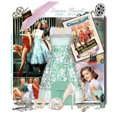 """""""GET The LOOK: Lauren Bacall (1924 ~ 2014) In - How To Marry A Millionaire.  #RIPLaurenBacall """" by enjoyzworld on Polyvore"""