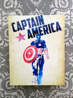 Captain America Metal Wall Art!  These pieces are just a piece of my own fan art. They are METAL prints that come with a 3/4 wall mount attached.