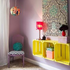 Fun little lady's room I just completed:) Crates, Room, Fun, Bedroom, Rooms, Shipping Crates, Rum, Peace, Drawers