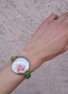 Kup mój przedmiot na #vintedpl http://www.vinted.pl/akcesoria/inne-akcesoria/14322847-zegarek-the-mini-watch-spring-flowers-green