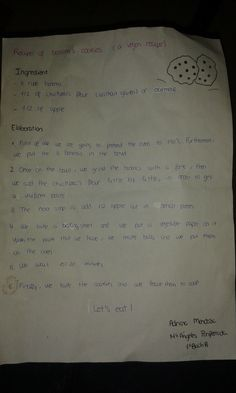 Here is our recipe, and later we will upload the video of the preparation (tutorial)