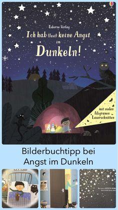 """Viele Kinder haben Angst in der Dunkelheit. Der kleine Junge ist in der Geschichte sehr mutig und hat vor fast nichts Angst, außer eben vor der Dunkelheit. Im Bilderbuch """"Ich hab (fast) keine Angst im Dunkeln!"""" überwindet er seine Angst und gewinnt eine ganz andere Sicht auf die Dunkelheit. Auf meinem Kinderbuchblog Familienbücherei stelle ich dir das Bilderbuch näher vor. #Familie #Kleinkind #Ängste #Kinder #Dunkelheit #Schlafen #Kinderbuch #Bilderbücher #Kinderbücher #Buchtipp Cover Design, Angst Im Dunkeln, Illustration, Books, Movies, Movie Posters, Books For Kids, Kids Learning, No Fear"""