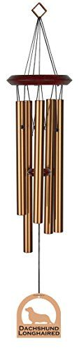 Chimes  Chimesofyourlife E4442 Wind Chime,  Dachshund Longhaired/Bronze,  19-Inch Backyard makeover <3 This is an Amazon Associate's Pin. Click the image to find out more from the website.