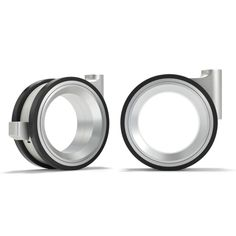 Hub-less wheels, aluminium, rubber