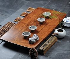 Traditional Chinese teaism tea set, made from bamboo. Super natural and elegant. This price cointains 1 tea tray    Specifiction:  Length:70cm;