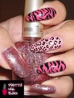 glitter/leopard/zebra