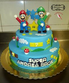 zuccherosamente torta mario bros le mie torte e. Black Bedroom Furniture Sets. Home Design Ideas