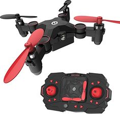 Holy Stone HS190 Foldable Mini Nano RC Drone for Kids Gift Portable Pocket Quadcopter with Altitude Hold 3D Flips and Headless Mode Easy Fly for Beginners * More info could be found at the image url.(It is Amazon affiliate link) #Quadcopters
