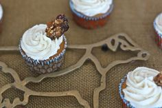 Beer Batter Cupcakes with Maple Buttercream and Cayenne Praline Bacon