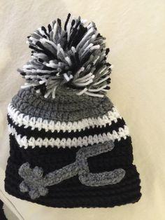 Crochet San Antonio Spurs hat