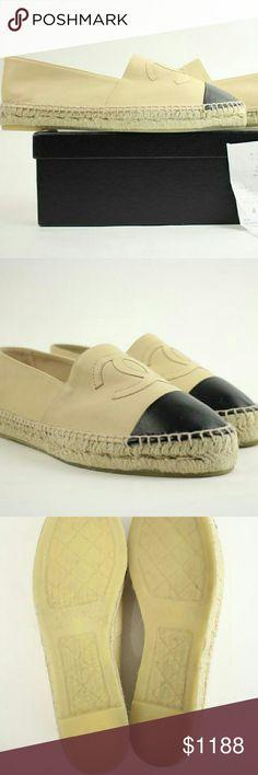 Cream Espadrilles Size 40 Ccsty03 Flats Cream This item will ship immediately!!  Previously owned.  Style Code/Name: Y G29762  Made In: Spain  Women's Size: 40 Signs of Wear: Exterior and interior shows light to no wear. Soles and insoles also show light to no wear. Shoes may have been used one or two times. Comes with dust bag and box. This item does not come with any other extra accessories.  Please review measurements and photos to see if this is the perfect item for you. Chanel Shoes…
