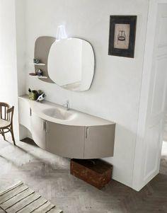 Mobile bagno olmo tortora #bathroom #linea #morbida #noangoli