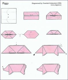 dollar origami pig diagram s13 sr20det ignition wiring easy animal face - google search   paper crafts origami, animals,