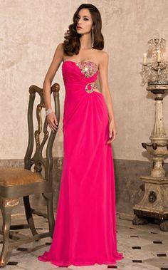 vestido de noche del vestido de bola sin tirantes piso-longitud tul satinado / prom - EUR € 189.99