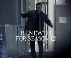[GIF] Renewed for Season 12! .. HELL YEAH!!! ^_^ <3 #Supernatural #Dean #Sam