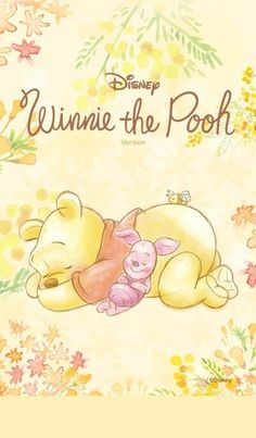 Winnie the Pooh and Piglet take it nice and easy in this beautiful and flowery watercolor theme. Winnie The Pooh Drawing, Winnie The Pooh Pictures, Winne The Pooh, Cute Winnie The Pooh, Winnie The Pooh Quotes, Winnie The Pooh Friends, Pixar, Images Disney, Disney Pictures