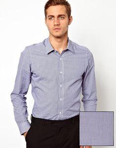 Shop ASOS Smart Check Shirt in Long Sleeve at ASOS. Asos Men, Check Shirt, Cool Style, Shirt Dress, Long Sleeve, Sleeves, Mens Tops, Shirts, Gray
