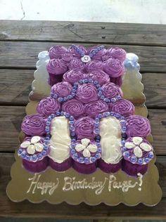 Sofia the first cupcake cake I did.