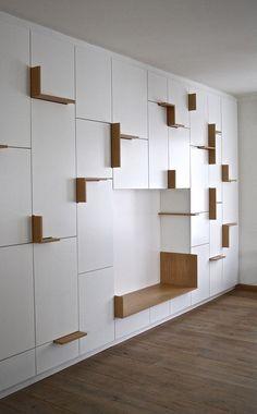 kast | wit met houten accenten