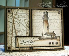 Stamps: Coast to Coast, Old World Map, Sincere Salutations, Script Paper: Black, Soft Suede, Vanilla Ink: Versafine Onyx Black, Soft Suede Accessories: MM Brads, twine Techniques: Out-of-the-Box, fingernail distressing, sailor's knot, watercoloring