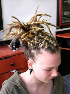 Easy and cool way to keep your dreads back without a headband etc