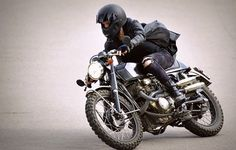The Girl with the Dragon Tattoo motorcycle -  Cafe Racer / Scrambler styled Honda CL350 by Glory Motor Works