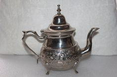 B8 Moroccan Teapot May be Alpaca Silver I Can by CRAZYMARYSFINDS