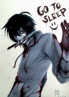Creepypasta // Jeff the Killer // Go to sleep Jeff The Killer, Familia Creepy Pasta, Creepy Pasta Family, Ben Drowned, Creepy Stories, Horror Stories, Creepy Art, Scary, Liu Homicidal