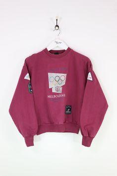 185a1e6d137d7 Adidas Melbourne Olympics Sweatshirt Red XS