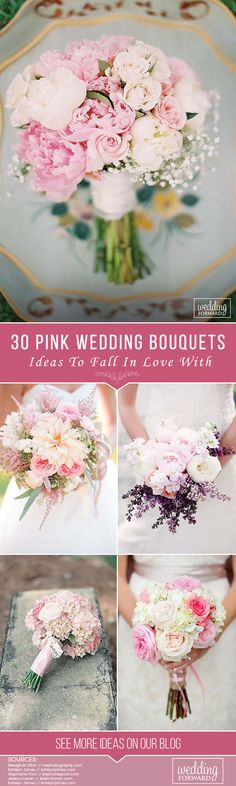 30 Soft Pink Wedding Bouquets To Fall In Love With ❤ See more: http://www.weddingforward.com/pink-wedding-bouquets/ #weddings #bouquets