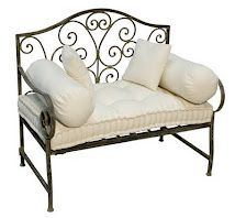 Wrought Iron bench for a porch~
