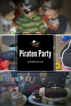 Here you will find everything you need for a pirate's birthday: ideas for invitation, decoration Pirate Birthday, Happy Birthday, Birthday Ideas, Party Invitations Kids, Kids Party Themes, Kids And Parenting, Diy For Kids, Party Time, Bridal Showers