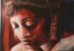 Profumo di spezie Olio su tela 100x70 2014 Portrait, Tattoos, Painting, Tatuajes, Headshot Photography, Tattoo, Painting Art, Portrait Paintings, Paintings