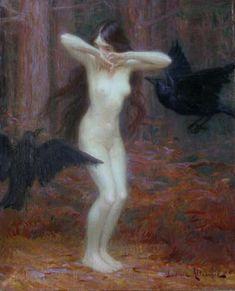 "Ludovic Alleaume. ""Incantation"" Oil on canvas"