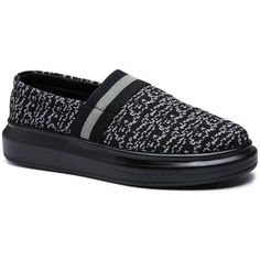 Concise Slip-On and Black Design Men's Casual Shoes