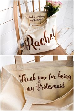 Need CUTE bridesmaids gifts ideas? Check out these gorgeous bridesmaid jewelry gift ideas, personalized bridesmaid bags, bridesmaid gifts under 10 + more! Bridesmaid Gifts From Bride, Bridesmaid Tote Bags, Bridesmaid Thank You, Bridesmaids And Groomsmen, Bridesmaid Jewelry, Bridal Jewelry, Wedding Bridesmaids Gifts, Brides Maid Gifts, Ideas To Ask Bridesmaids