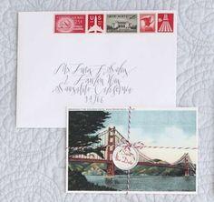 VIntage postcard Save the Date