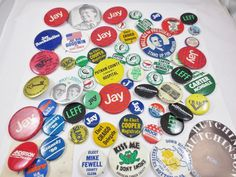 Vintage LOT of Assorted US-WV CAMPAIGN ELECTION PRESIDENTIAL BUTTONS-J. CARTER
