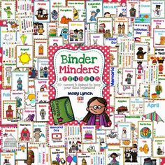 Get Organized with Binder Minders  Finders - 80+ Covers  Spines to keep your thematic units lookin' good!