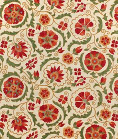 Fabricut Trend 02097 Artwork Fabric - $26.45 | onlinefabricstore.net #orange #fall #decor