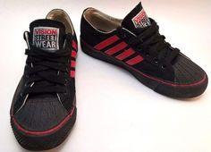 34354aa755 Vtg Vision Street Wear Shoes Duane Peters 1987 Skateboard Mens SZ 6.5 Black  Red  VisionStreetWear