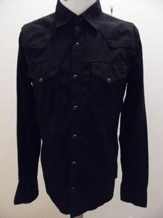 Sweden Designer  Nudie Jeans Black Long Sleeve Shirt Medium   #NudieJeans #ButtonFront
