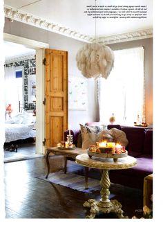 Elegant living room. omg light!