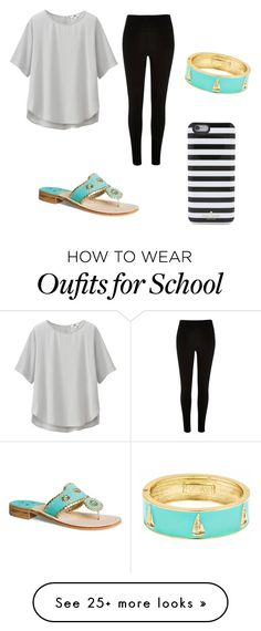 """""""School day"""" by victoriaekechukwu on Polyvore featuring Jack Rogers, Fornash, Uniqlo and Kate Spade"""