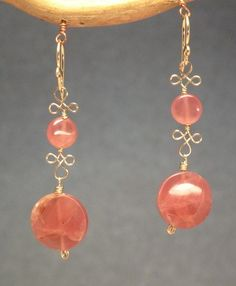 Crazy Perfect Deals - Rhodochrosite linked with filagree wire $62