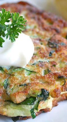 Italian Zucchini Fritters. Pretty good. I served with Siracha mayo. Yum!