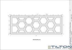 Geometric Coffered Ceiling Design - Hexagonal 04