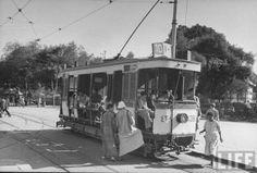 Electric tram, by life magazine, circa 1940's