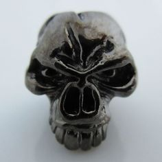 Emerson Skull Bead in Hematite Finish by Schmuckatelli Co.