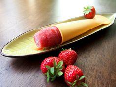 Wassereis Erdbeer-Ingwer